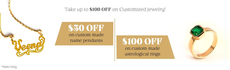 Customized Jewelry Promotion Desktop